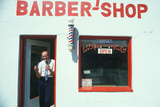 Lloyd the Barber at His Shop  Lyons  CO
