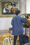 Artist Copying a Master Painting at the Louvre Museum  Paris  France