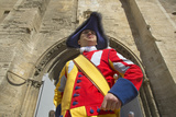 Costumed Guard Greeting People in Front of Palace of the Popes  Avignon  France