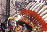 Native American Float in Macy's 50th Annual Thanksgiving Parade in New York  New York