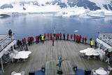 Cruise Ship Marco Polo in Lemaire Harbor  Antarctica