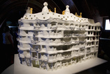 Model of Antonio Gaudí's La Pedrera  Barcelona  Spain  Europe
