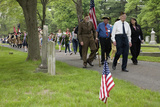 Historic Lexington Cemetery on Memorial Day  2011 Where Veterans Honor Fallen Soldiers  MA