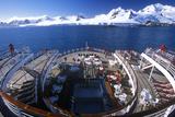 Cruise Ship Marco Polo Rear Deck  Antarctica