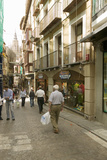 Shoppers in Streets of Historic Toledo  Spain