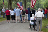 Memorial Day  2011  Citizens Honor the Fallen Soldiers Outside of Lexington  Ma Near Boston