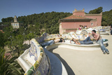 Magical Homes of Antoni Gaudi's Parc Guell  Barcelona  Spain
