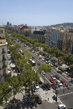 Aerial View of Passeig De Gràcia Street in the Eixample District  Barcelona  Spain  Europe
