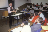 An Instructor Lecturing to and Adult Business Management Class  Toledo  Oh