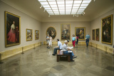 Art Appreciators View Paintings in Museum De Prado  Prado Museum  Madrid  Spain