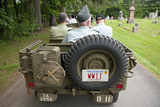 Antique WWII Jeep and Veterands Participate in Memorial Day Parade  2011 Outside of Concord  MA