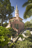 Architecture of Antoni Gaudi's Parc Guell  Barcelona  Spain