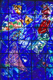 Stained Glass Window with Design by Marc Chagall  Marc Chagall Museum  Nice  France