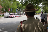 Veteran Soldier Watches Ceremony on Memorial Day  2011  Concord  MA