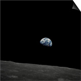 Earthrise and Lunar Horizon from Apollo 8