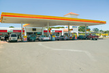 Modern Shell Gasoline Station in Zululand South Africa