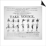 'Take Notice'  American Revolutionary War Recruitment Poster
