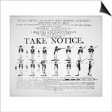 'Take Notice'  American Revolutionary War Recruitment Poster