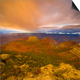 Bright Clouds Over Grand Canyon