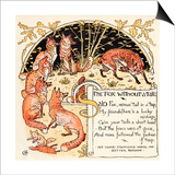 The Fox Without a Tail  Illustration from 'Baby's Own Aesop'  Engraved and Printed by Edmund…