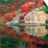Autumn Colour Reflected in Murdock River  Sudbury  Ontario  Canada