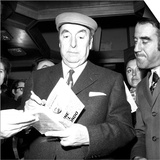 The Nobel Prize Laureate Pablo Neruda Presents His Latest Book 'Fine Del Mondo' in Milan  10th…