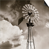 Windmill and Clouds by Tom Marks