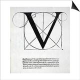 V  Illustration from 'Divina Proportione' by Luca Pacioli (C1445-1517)  Originally Pub Venice