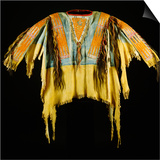 A Southern Cheyenne Quilled and Fringed Hide Warrior's Shirt