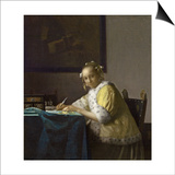 A Lady Writing  C 1665