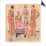Night Dresses in Super Crepe  Night Ensemble in Crepe And Pyjamas From Art  Gout  Beaute  1930