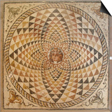 Mosaic of a Roman Villa  Corinth Museum  Korinthia  Peloponnese  Greece