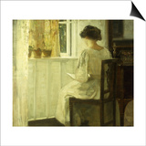 A Woman Reading in a Sunlit Interior