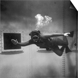 A Scuba Diver Inside a Large Metal Water Tank Photograph by Heinz Zinram