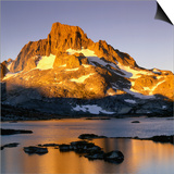 Banner Peak and Thousand Island Lake in the Sierra Nevada Mountains  California  USA