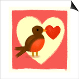 Robin with Heart