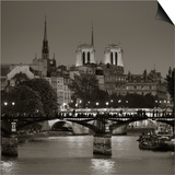 Notre Dame and Pont Des Arts  Paris  France