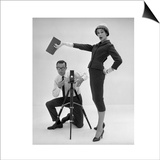 John French and and Daphne Abrams in a Tailored Suit  1957