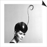 Pillbox Hat with Feather  1960s