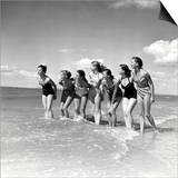 """Marquis De Cuevas"""" Company on the Beach at Deauville: 7 Girls  7 Nationalities"""