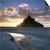 Mont Saint-Michel from the Tidal Flats at Sunset