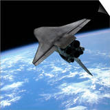 Artist's Concept of a Space Shuttle Entering Earth Orbit