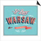 Vintage Greeting Card From Warsaw - Poland