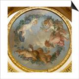 Plafond de la salle du Conseil à Fontainebleau