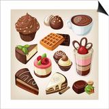 Set Of Chocolate Sweet Food