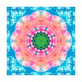 Shining Blossom Aqua Mandala