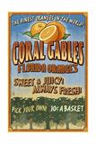 Coral Gables  Florida - Orange Grove Vintage Sign
