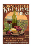 Connecticut - Wine Tours Vintage Sign