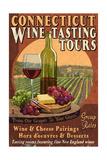 Connecticut - Wine Tours Vintage Sign