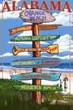 Orange Beach  Alabama - Sign Destinations